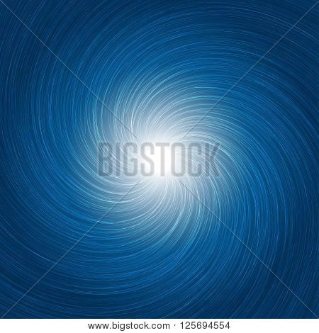 Abstract Cyclone Background Blue Light Vector Illustration