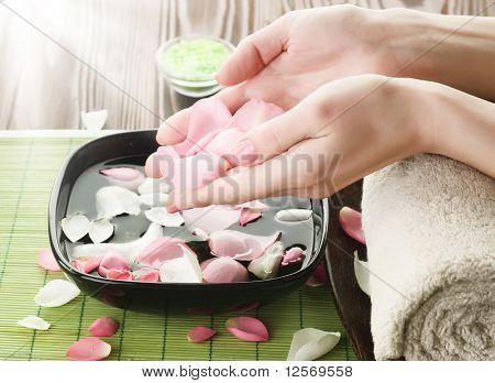 Luxury Manicure concept.Spa