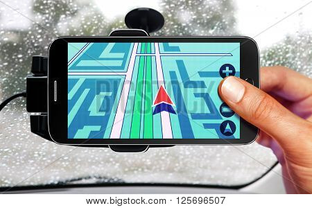 portable device for navigation of car