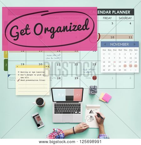 Get Organized Tidy Up Clean Schedule To Do Concept