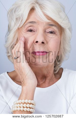 Woman And Working Anti-aging Cream