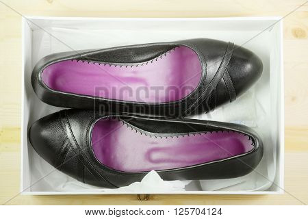 The image of black shoes