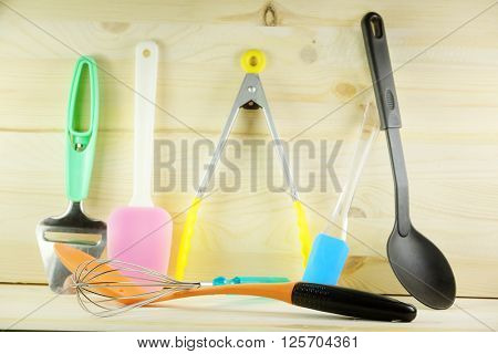 Set of a kitchen utensil