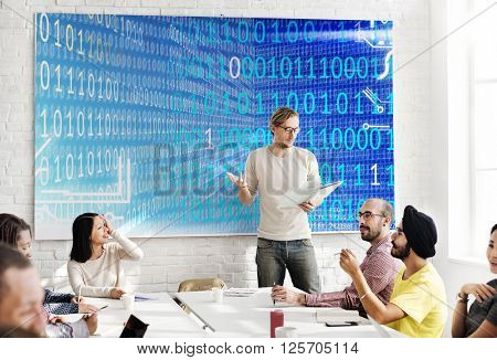 Binary Code Digits Technology Software Concept