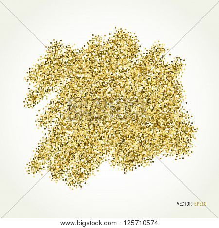 Gold sparkle vector template for your text. Template for your design, invitation, logos, card, gift, voucher, certificate