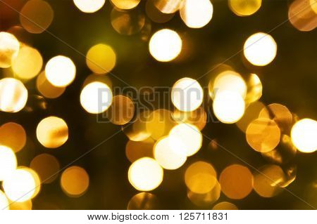 Abstract circular bokeh background of Christmaslight close up