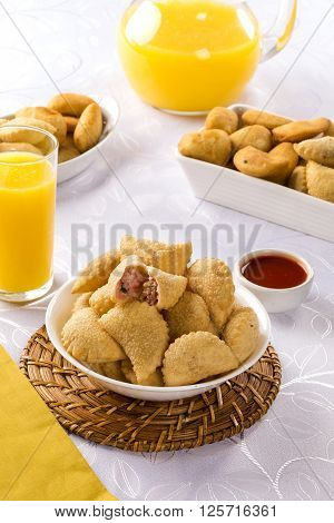 Brazilian Snack. Ham And Cheese Pastry.