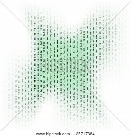 Binary Code Background. Concept Binary Code Numbers. Algorithm Binary, Data Code, Decryption and Encoding.