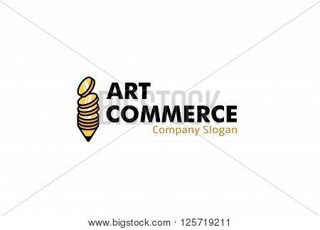 Art Commerce Creative And Symbolic Logo Design Illustration