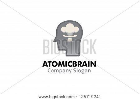 Atomic Brain Creative And Symbolic Logo Design Illustration