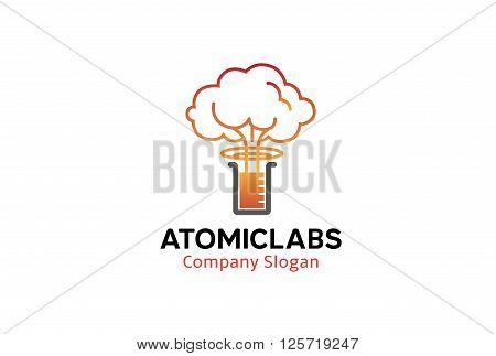 Atomic Labs Creative And Symbolic Logo Design Illustration