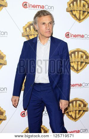 LAS VEGAS - APR 12: Christoph Waltz at the Warner Bros. Pictures Presentation during CinemaCon at Caesars Palace on April 12, 2016 in Las Vegas, Nevada