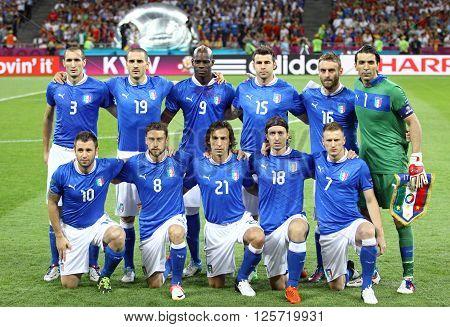 Uefa Euro 2012 Final Game Spain Vs Italy