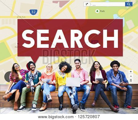 Search Searching Exploration Discover Inspect Finding Concept