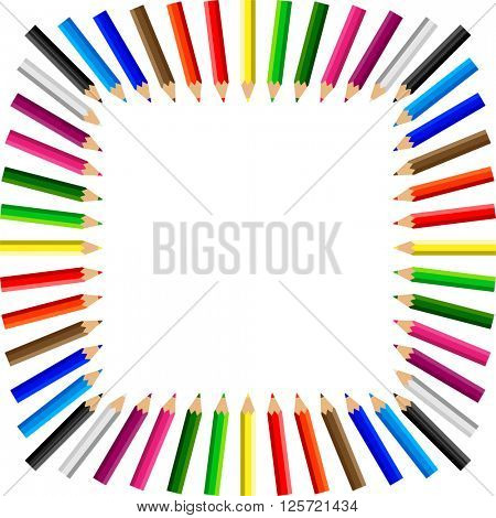 Color Pencils Background Vector Illustration