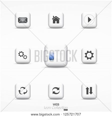 Web icon collection. Main vector icons for your design and ideas.