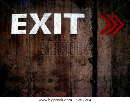 Grungy Exit Sign