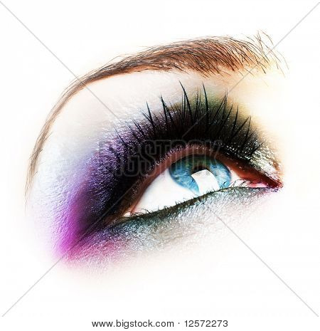 Eye Makeup isolated on white