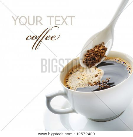 Instant Coffee Isolated on white