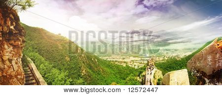 China.Great Wall.Panoramic view