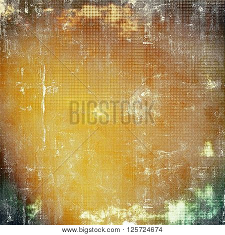 Vintage elegant background, creased grunge backdrop with aged texture and different color patterns: yellow (beige); brown; green; gray; white