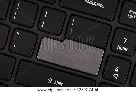 Laptop Computer Keyboard With Blank Grey Button