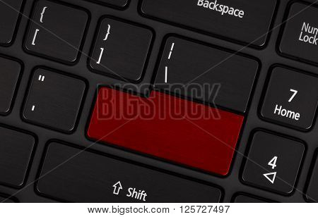 Laptop Computer Keyboard With Blank Red Button