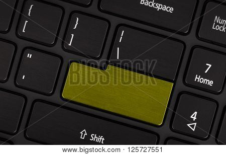Laptop Computer Keyboard With Blank Yerllow Button