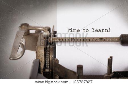 Vintage Typewriter - Time To Learn