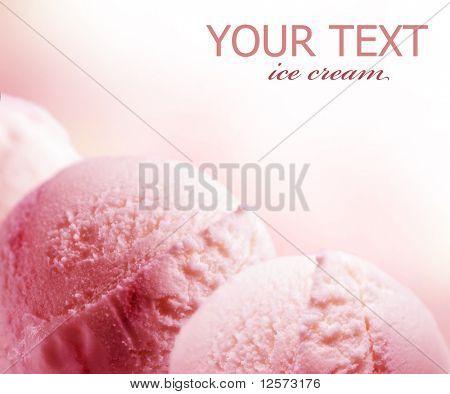 Frontera de helado fresa