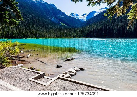 A highlight of the park is the turquoise blue waters of Lower Middle and Upper Joffre lakes all three of which are located along the trail and each more stunning than the last.