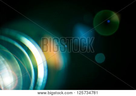 Camera lens with lense reflections. Macro concepts.