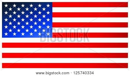 Clean Modern Flag Of The United States Of America. Vector Icon.