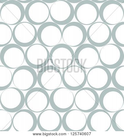 Abstract Circular Vector Seamless Pattern Like Ring Stains Left From Coffee Cups