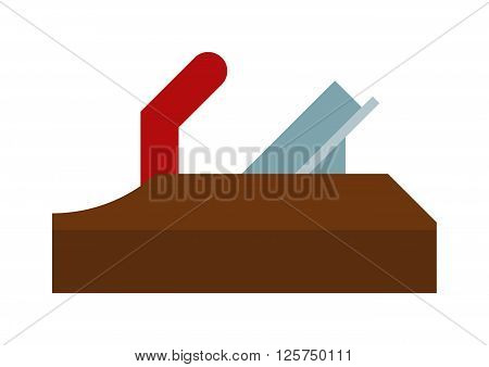 Wood plane tool icons and Wood plane tool illustration. Flat Wood plane tool icons, Wood plane tool isolated on white background. Professional plane wood tool