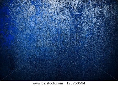 rusty blue iron plate