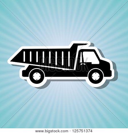 dump truck design, vector illustration eps10 graphic