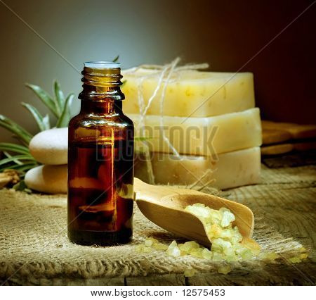 Spa treatment. Aromatherapy.Essential Oil
