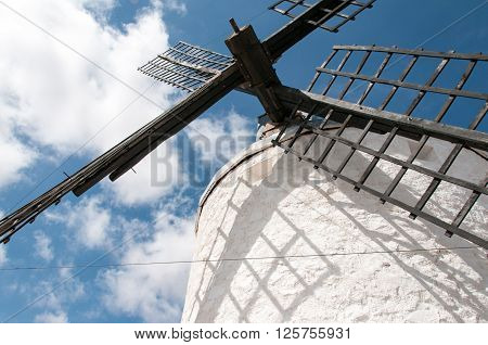 Don Quixote windmills at Consuegra Spain; europe ** Note: Visible grain at 100%, best at smaller sizes