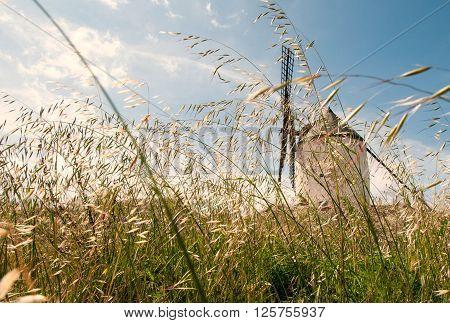 Don Quixote windmills at Consuegra Spain; europe