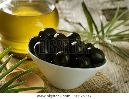 Black Olives and Virgin Olive Oil