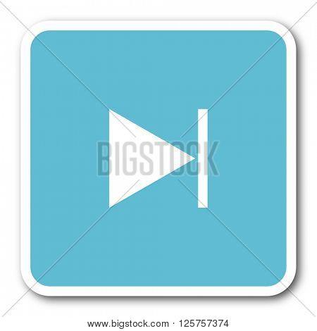 next blue square internet flat design icon