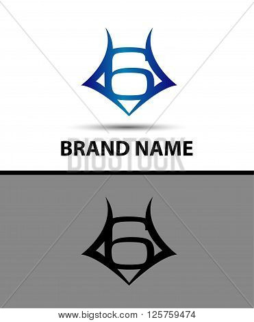 Number logo design.Number six logo.Logo 6 vector template