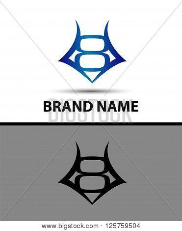 Number logo design.Number eight logo.Logo 8 vector template