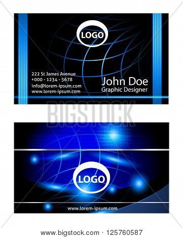 Vector set of business cards. Vector abstract creative business cards