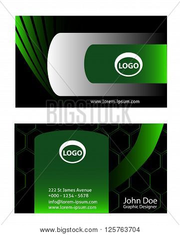Abstract business card. Vector abstract creative business cards