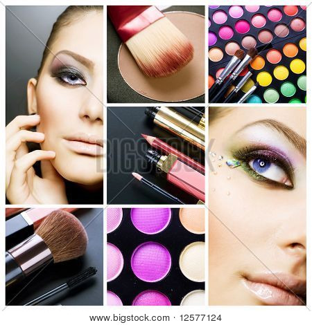 Makeup.Beautiful Make-up-collage