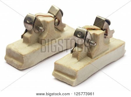 Close up of Fuses over white background