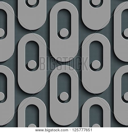 Seamless Ellipse Pattern. Vector Geometric Background