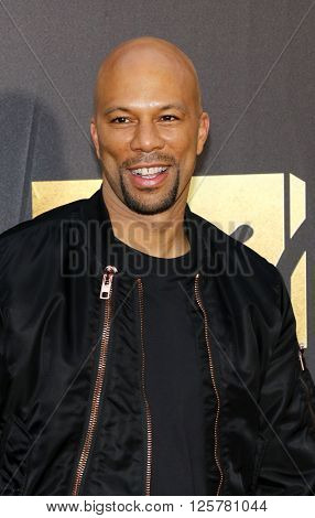 Common at the 2016 MTV Movie Awards held at the Warner Bros. Studios in Burbank, USA on April 9, 2016.